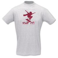 "T-Shirt Skateboard ""Flip it"" T-Shirt Modellnummer 001059-901-409  ash/bordeaux"