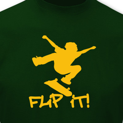 "T-Shirt Skateboard ""Flip it"" T-Shirt"