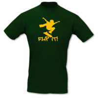 "T-Shirt Skateboard ""Flip it"" T-Shirt Modellnummer 001059-902-410  grün/goldgelb"