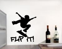 Wandtattoo Skate 'Flip it'