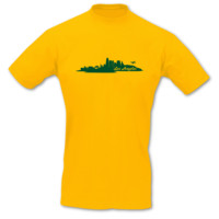 T-Shirt Los Angeles Skyline LA T-Shirt Modellnummer 001093-020-404  goldgelb/grün