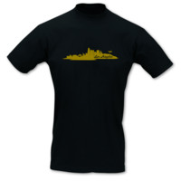 T-Shirt Los Angeles Skyline LA T-Shirt Modellnummer 001093-070-420  schwarz/gold-metallic