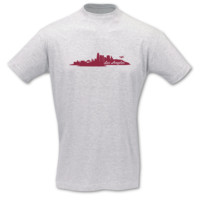T-Shirt Los Angeles Skyline LA T-Shirt Modellnummer 001093-901-409  ash/bordeaux