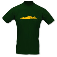 T-Shirt Los Angeles Skyline LA T-Shirt Modellnummer 001093-902-410  grün/goldgelb