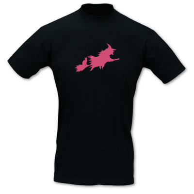 T-Shirt fliegende Hexe T-Shirt