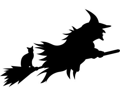 aufkleber halloween hexe autoaufkleber | plot4u