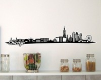 Chicago Skyline Wandtattoo