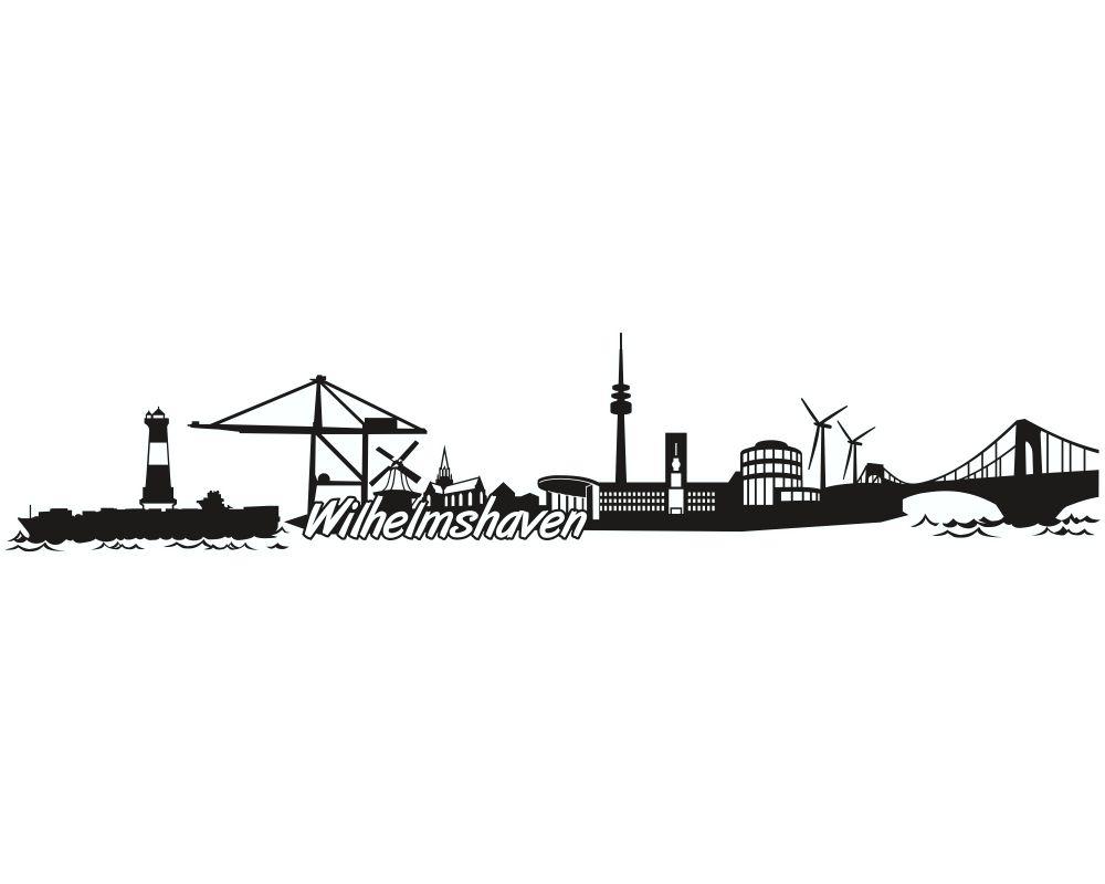 samunshi wilhelmshaven skyline aufkleber sticker. Black Bedroom Furniture Sets. Home Design Ideas