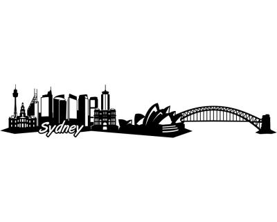 Wandtattoo Sydney Skyline Tattoo - TattoosKid