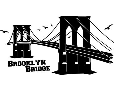 Wandtattoo Brooklyn Bridge Wandtattoo