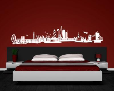 wandtattoo london skyline wandaufkleber plot4u. Black Bedroom Furniture Sets. Home Design Ideas