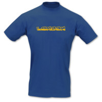 T-Shirt London Schriftzug Skyline T-Shirt Modellnummer 001195-903-410  royal blau/goldgelb