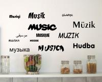 Wandtattoo Musik in 13 Sprachen Creativ-Set