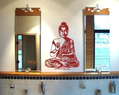 wandtattoo buddha wandsticker plot4u. Black Bedroom Furniture Sets. Home Design Ideas