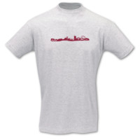T-Shirt Essen Skyline T-Shirt Modellnummer 001225-901-409  ash/bordeaux