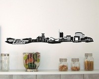 Essen Skyline Wandtattoo