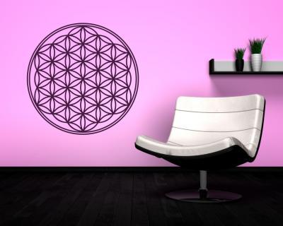wandtattoo blume des lebens plot4u. Black Bedroom Furniture Sets. Home Design Ideas