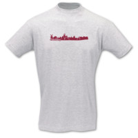 T-Shirt Oldenburg Skyline T-Shirt Modellnummer 001230-901-409  ash/bordeaux