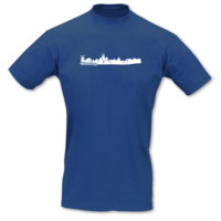 T-Shirt Oldenburg Skyline T-Shirt Modellnummer 001230-903-401  royal blau/weiß