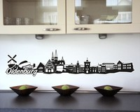 Oldenburg Skyline Wandtattoo