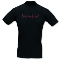 T-Shirt Listen to the Music T-Shirt Modellnummer 001243-070-462  schwarz/fuchsia