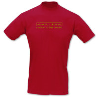 T-Shirt Listen to the Music T-Shirt Modellnummer 001243-904-420  rot/gold-metallic