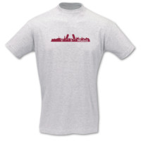 T-Shirt Madrid Skyline T-Shirt Modellnummer 001246-901-409  ash/bordeaux