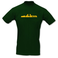 T-Shirt Madrid Skyline T-Shirt Modellnummer 001246-902-410  grün/goldgelb