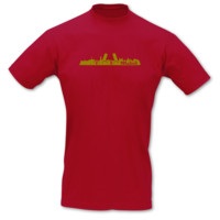 T-Shirt Madrid Skyline T-Shirt Modellnummer 001246-904-420  rot/gold-metallic