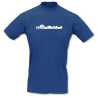 T-Shirt Bukarest Skyline T-Shirt Modellnummer 001259-903-401  royal blau/weiß