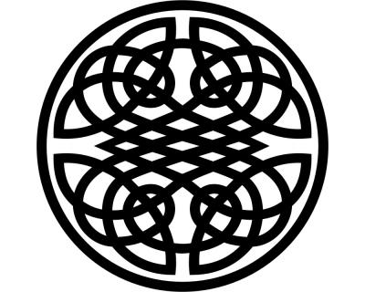 Aufkleber Keltischer Kreis Knoten Scheibenaufkleber | plot4u