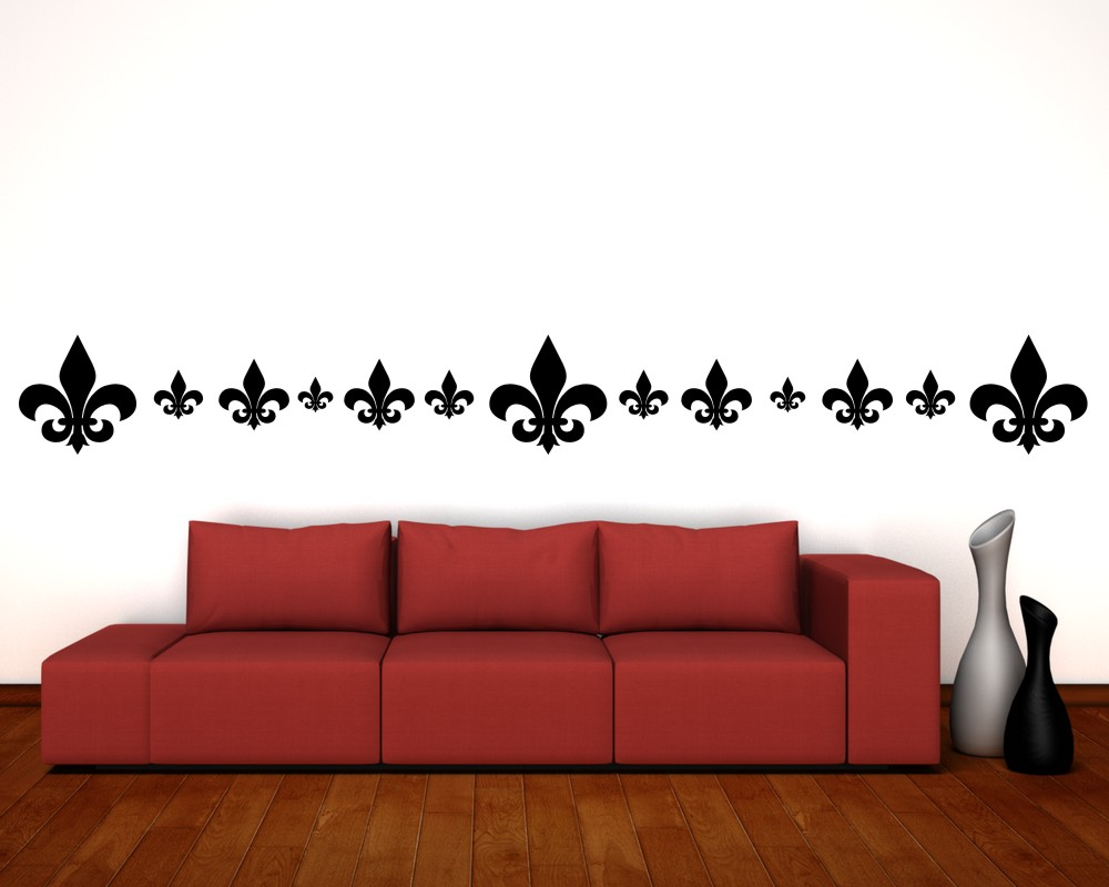 samunshi wandtattoo fleur de lys fleur de lis set 25 farben 6 gr en ebay. Black Bedroom Furniture Sets. Home Design Ideas