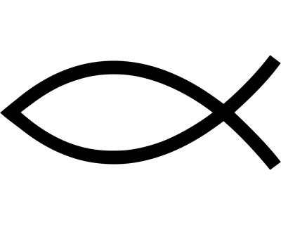 Aufkleber Christenfisch Jesusfisch Ichthys Scheibenaufkleber