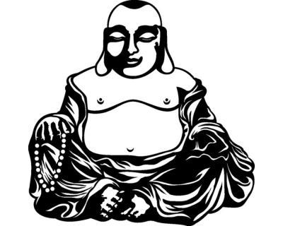 Dicker buddha wandtattoo plot4u - Wandtattoo buddha ...