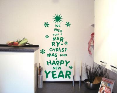 wandtattoo buchstaben christbaum wandaufkleber plot4u. Black Bedroom Furniture Sets. Home Design Ideas