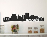 Wellington Skyline Wandtattoo