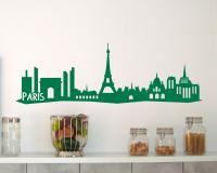 Paris Skyline Wandtattoo