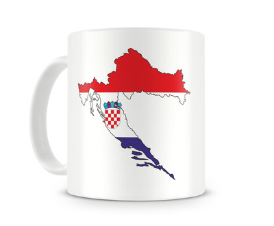 Tasse mit Kroatien in Nationalfarben