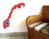 Norwegen Wandtattoo mit der Nationalflagge