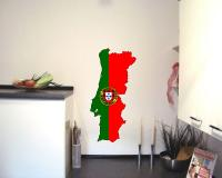 Portugal Wandtattoo mit der Nationalflagge