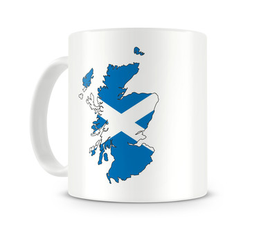 Tasse mit Schottland in Nationalfarben