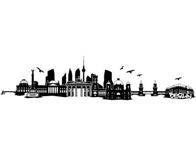 Berlin Wandtattoo berlin skyline wandtattoo | plot4u