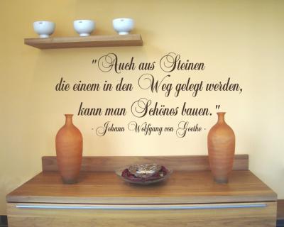 Zitat steine im weg wandtattoo johann wolfgang von goethe - Goethe weihnachten zitate ...