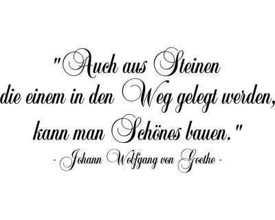 Zitat Steine Im Weg Wandtattoo Johann Wolfgang Von Goethe
