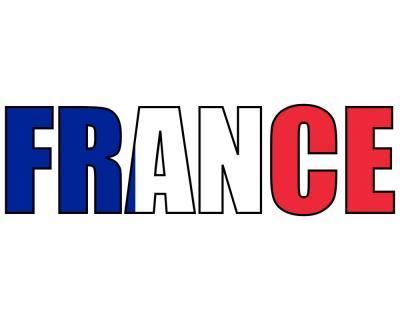Frankreich Schriftzug Aufkleber France   plot4u