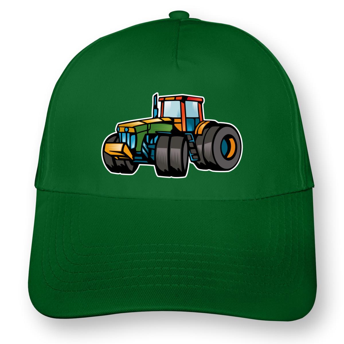 bunte trecker kinder kappe traktor cap bedruckt 8 farben. Black Bedroom Furniture Sets. Home Design Ideas