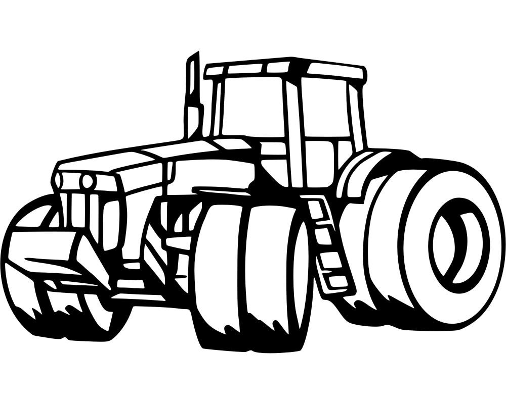 Eitelkeit Wandtattoo Trecker Dekoration Von Großer Traktor 25 Farben 6 Größen Wandaufkleber