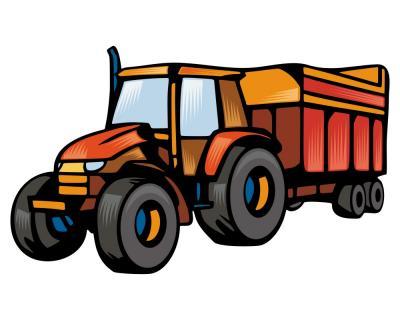 trecker mit anh nger traktor aufkleber sticker. Black Bedroom Furniture Sets. Home Design Ideas