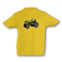 Kinder T-Shirt alter Trecker Kinder T-Shirt Modellnummer 001579-020-998  goldgelb/farbiger Aufdruck
