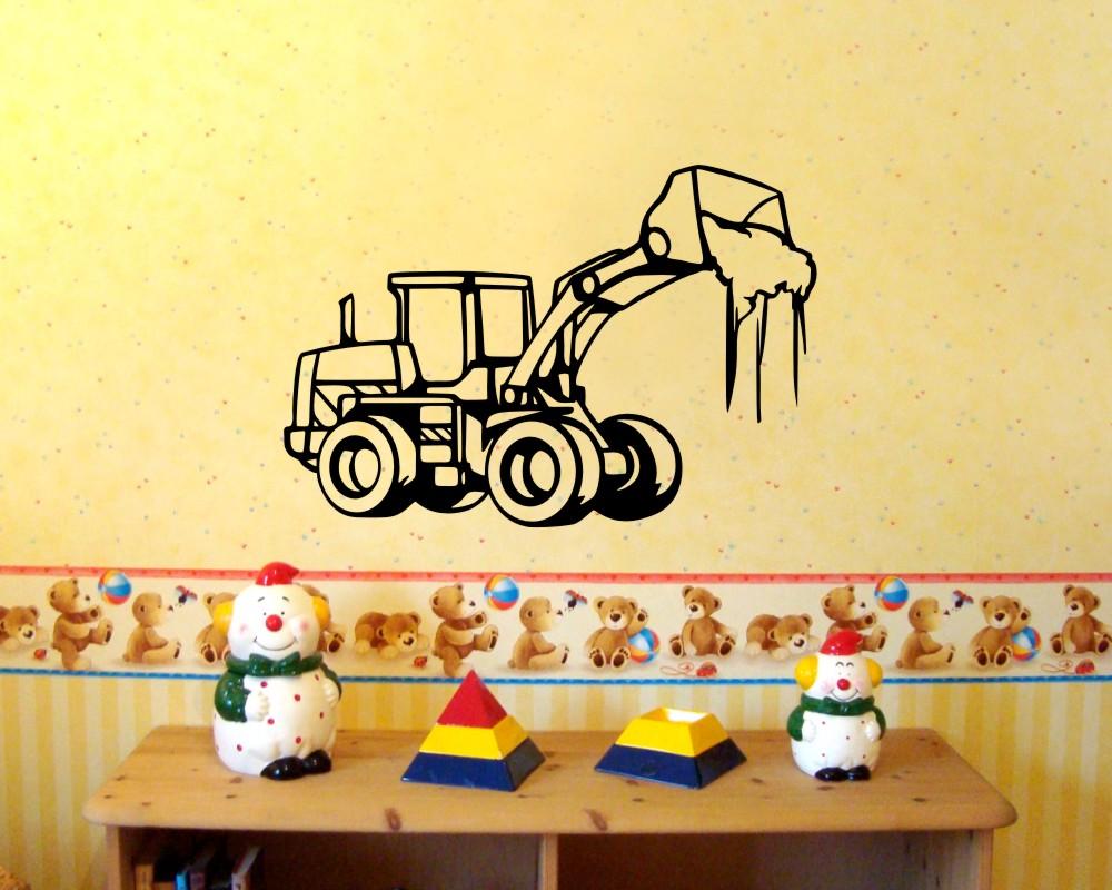 Wandtattoo radlader baumaschine baustelle wandsticker 25 farben 4 gr en sticker ebay - Wandsticker jugendzimmer ...